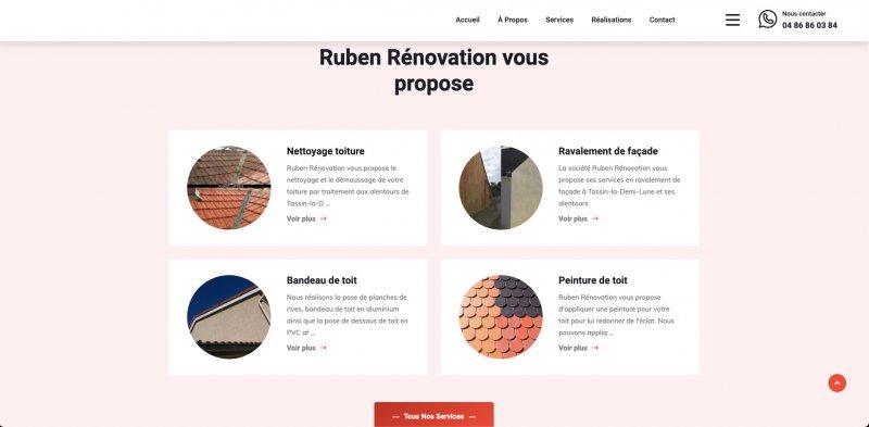 Image présentation Site vitrine Ruben Rénovation
