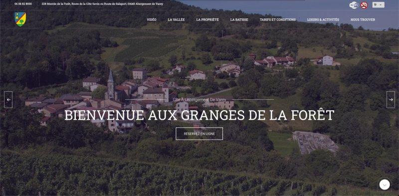 Image présentation Site vitrine Les granges de la forêt