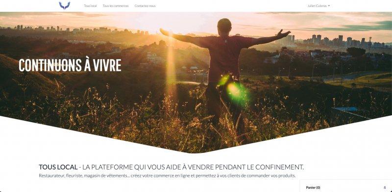 Image présentation Plateforme click & collect Tous local