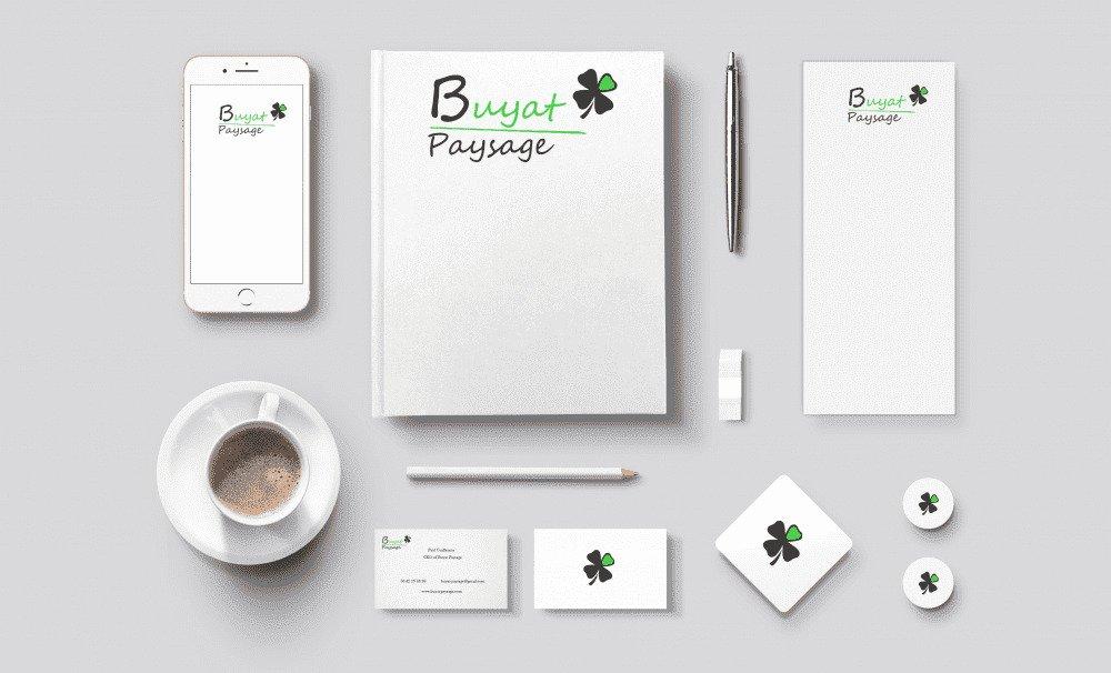 Mockup Logo Buyat Paysage